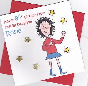 Personalised Handmade Tracy Beaker Birthday Card - Daughter, Sister, Niece etc