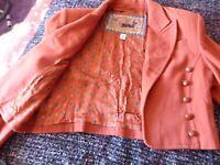 Mondi size 40 vintage short jacket - cashmere mix silk lining. as shown