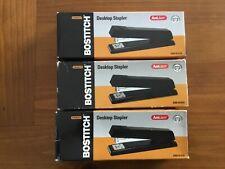 3 Stanley Bostitch B660 Antijam Full Strip Stapler 20 Sheet Capacity Black New