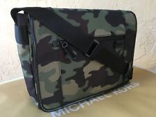 NWT- Michael Kors Travis Large ARMY Messenger Laptop/ Commuter Bag