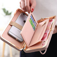 Fashion Women Leather Bowknot Wallet Phone Pocket Coin Card Holder Clutch Purse