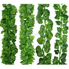 New Artificial Ivy Fake Foliage Leaf Flowers Plants Garland Garden Decoration 2M