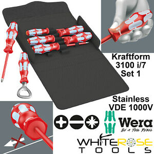 Wera Kraftform 3100 i/7 Set 1 Stainless VDE Screwdriver Kit 1000V Bottle Opener