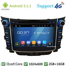 7'' Quad core Android 5.1 4G Car DVD Player Radio GPS For Hyundai I30 2011-2016