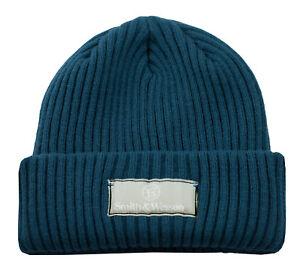 SMITH & WESSON *INDIGO BLUE* Trademark LOGO  KNIT STOCKING CAP HAT *BRAND NEW*