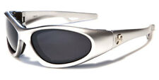 Motorcycle Goggles New Padded Sport Wrap Sunglasses Chopper Biker Silver CH5011
