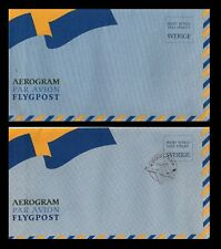 Sweden Aerogram Illustrated Unused Stamps covers, Stockholm, 1986 (Bi#Bx30)