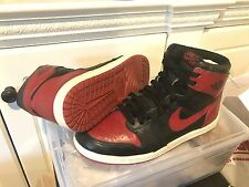 Nike Air Jordan 1 I OG Origenal 1985 Bred Banned Black/Red Size 9