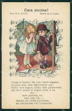 Bertiglia Spartito Musicale Note Children Serie 2241 postcard cartolina QT5380