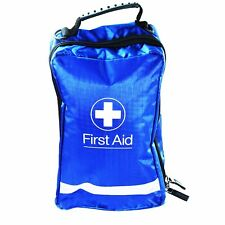 Blue Empty First Aid Bag - (H) 24.5 cm (W) 15.5 cm (D) 10 cm