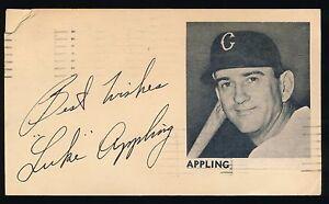 LUKE APPLING (1930-1950 Chicago White Sox) -Autograph 3x5 GPC (d.1991) *HOF*