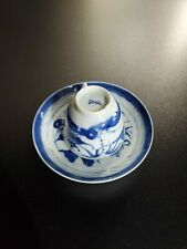 Antique Chinese Porcelain Tea Cup & Saucer Nice Canton Pattern