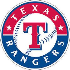 "Texas Rangers MLB Baseball sticker, wall decor, large vinyl decal, 9.5""x 9.5"""
