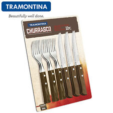 TRAMONTINA Steak Pizza Knives Fork Kitchen Cutlery BBQ 12 Pcs.Churrasco 29899153