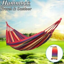 Heavy Duty Outdoor Cotton Rope Camping Hammock Swing Hanging Bed Sleep Tent