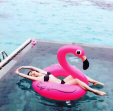 Full Size Giant Inflatable Pink Flamingo Tube Swimming Pool Float Floaties Ring