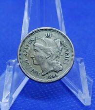 1865 3 Cent Nickel USA, First Year of Issue High grade coin
