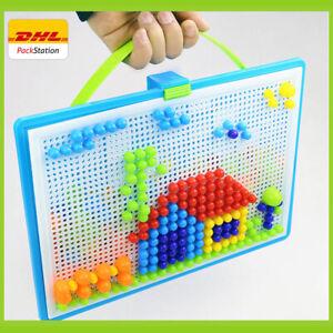 296 Stecker Mosaik-Steckspiel Montessori Kreativ Spielzeug 3D Puzzle Pädagogisch