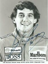 Ayrton Senna (deceased) 1990 McLaren Hand Signed Driver Photograph