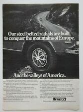 PIRELLI Tires 1971 magazine advert - English - USA