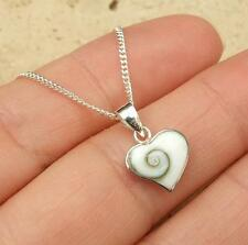 Shiva Shell en forma de corazón Colgante de plata esterlina 925 Joyas