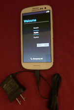 Samsung S3 - SGH-T999L - 16GB  With Charger -White T-Mobile Read description