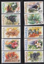 Rwanda 1112-21 Flora and Animals Mint NH