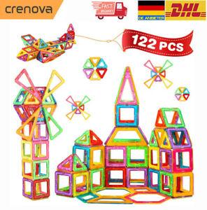 122tlg Magnetische Bausteine Magnetic Building Bausatz Kinder Spielzeug Geschenk