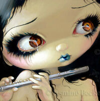 Fairy Face 168 Jasmine Becket-Griffith SIGNED 6x6 PRINT flute faery