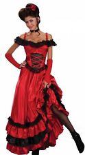 Schönes Abendkleid Flamenco Kleid Spanierin Kostüm +Armstulpen, Halsband, String