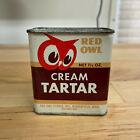 Vintage 1948 Red Owl Minneapolis Spice Tin Cream Tartar 1.5 oz Tin Can Partial