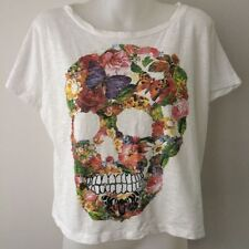 Short Sleeve Machine Washable Floral 100% Cotton T-Shirts for Women