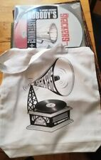 "The SLACKERS brand new NOBODY'S LISTENING 12"" SINGLE + GRAMOPHONE LP TOTE !"