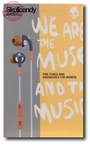 Skullcandy Bombshell Womens In-Ear Headphones with Mic - Navy & Coral Earphones
