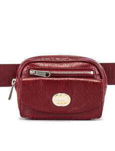 Gucci GG Crackled Morpheus Calfskin Leather Red Belt Bag 70/28