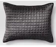 1 Project 62 Velvet Grid Stitch Pillow Sham Gray Standard  Nwot