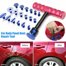 Car Body Panel Paintless Hail Repair PDR Dent Lifter Removal Tool+18 Puller Tabs