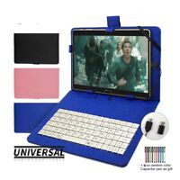 Universal Keyboard Case For Android Tablet Phone 5-11 Cover Spanish Language