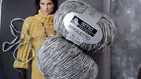 500 g BRIOLETTO smc select Schachenmayr WOLLE Grau Hellgrau Fb.08216 Schurwolle
