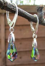 925 STERLING SILVER EARRINGS WITH SWAROVSKI ELEMENTS-Crystal VM 15 mm
