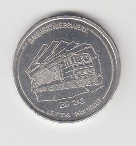 Médaille DDR Train Br 243 Depot Leipzig 1985