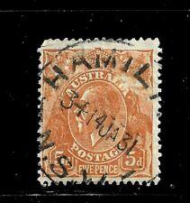 HICK GIRL-USED AUSTRALIA STAMP   SC#75  1930  KING GEORGE V     D972