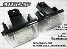 AMPOULES LED LEDS SMD PLAQUE IMMATRICULATION CITROEN C4 C3 picasso C5 SAXO XSARA