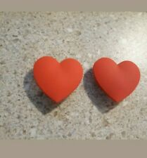 Lot 2 Red heart shoe charms for Crocs shoes. Other uses Craft, Scrapbook