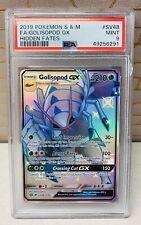 Pokémon PSA 9 MINT Shiny Golisopod GX FULL ART SV48 Hidden Fates Card TCG 2019