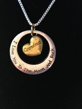 "Fashion Jewelry Silver Gold Plated I Love You To The Moon & Back ""Grandma"""