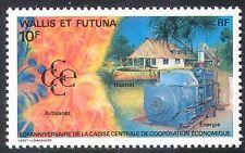 Wallis & Futuna 1991 Bank/House/Commerce/Tree/Generator/Energy 1v n30927
