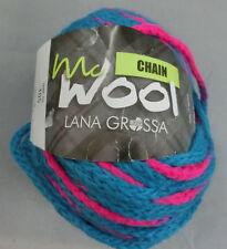 100 g McWool Chain, Lana Grossa, Fb. 105 blau/pink - schön für Mützen #2129