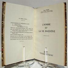GIAJA (Jean). L'Homme et la vie inventive- Biologie - Physiologie - 1955
