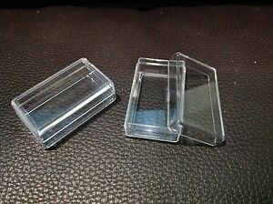 24 Pcs Small Clear Rectangle Plastic Storage Container Box Bead DIY Tiny Jewelry